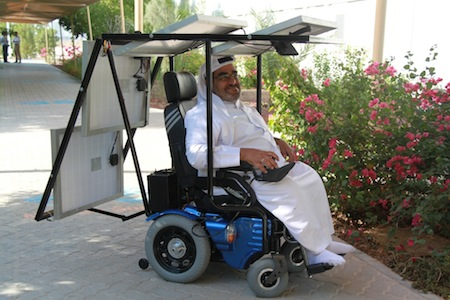 太阳能轮椅的代步工具