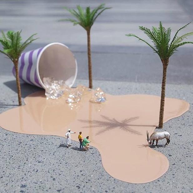 微小世界的环保创意宣传