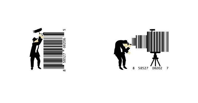 有创意的条形码图片