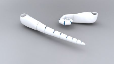 多节仿真可弯曲假肢技术