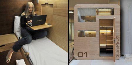 """迷你""""睡箱""""的创意胶囊公寓"""