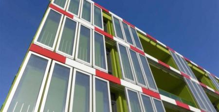德国汉堡的海藻能源建筑幕墙