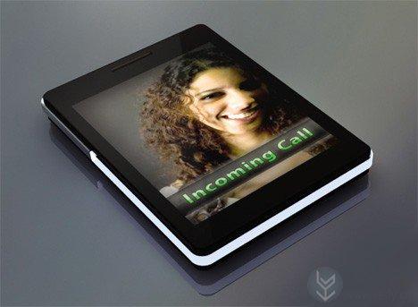 发光玻璃键盘的概念手机设计
