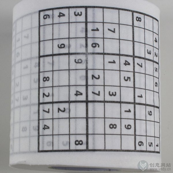 印了读数游戏的创意卫生纸