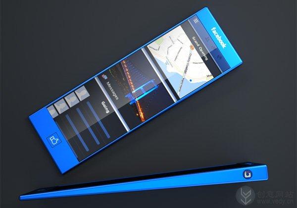 Facebook Phone的概念手机设计