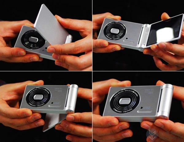 360°可旋转的翻盖数码相机