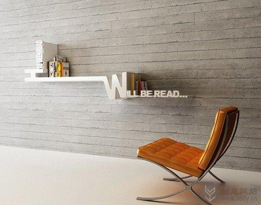创意书架将你的图书分类成已读和未读