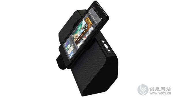 数码移动设备配上创意底座音箱