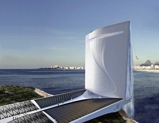 建筑概念设计之太阳能瀑布