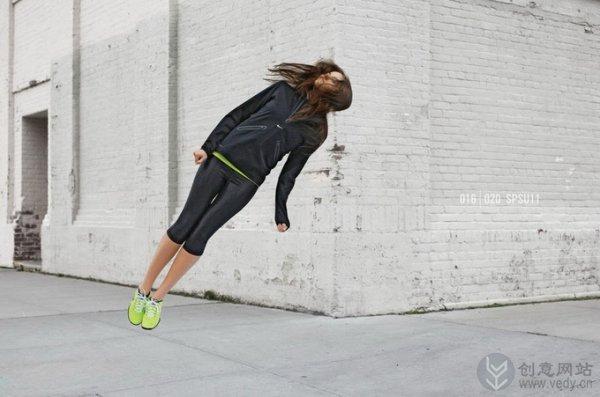 Nike创意广告设计中的漂浮