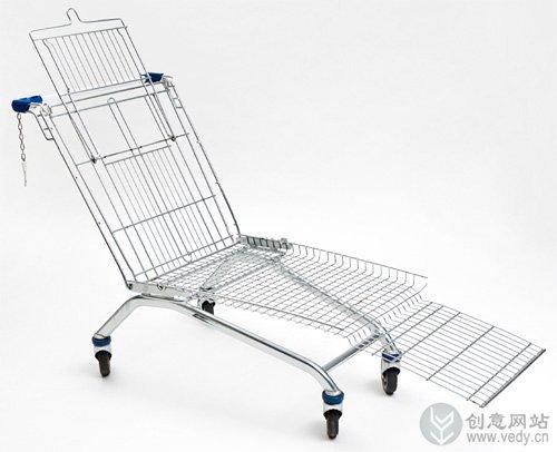 椅子样式的超市购物车设计