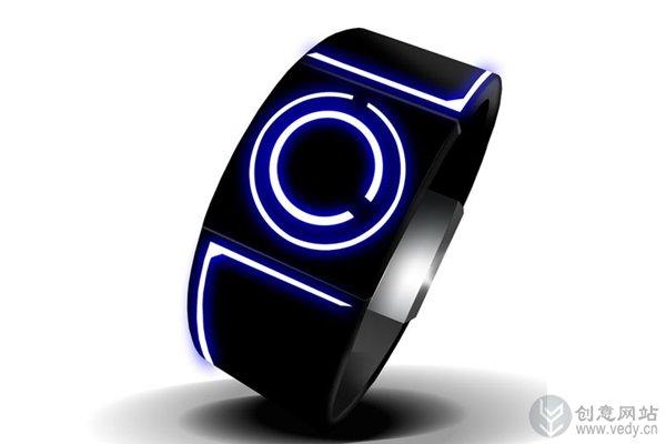 用光圈指示时间的创意手表