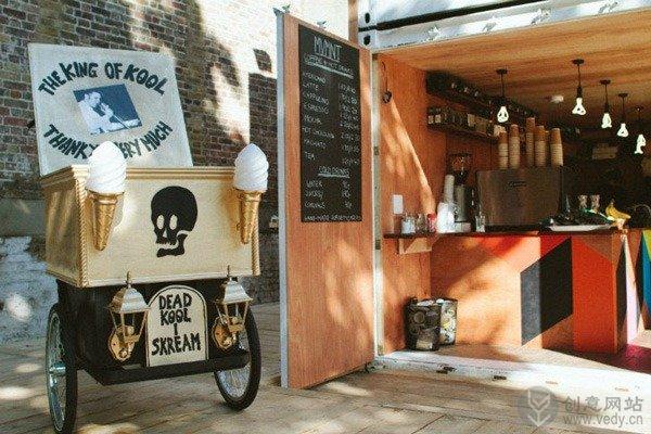 旧物改造的创意咖啡厅
