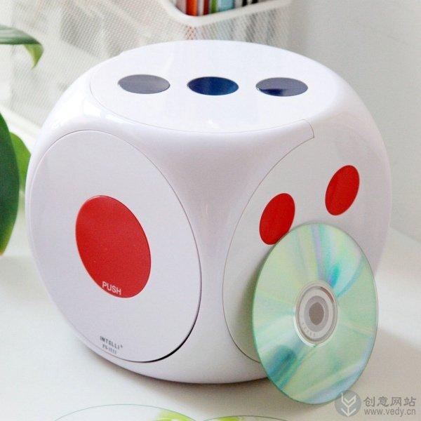骰子样式的CD碟片创意收纳盒
