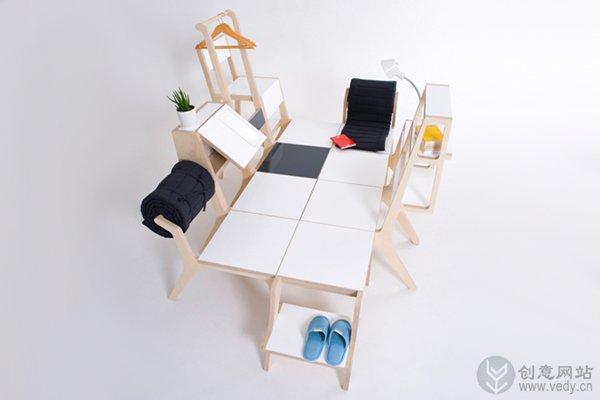 无敌组合家具的创意家居