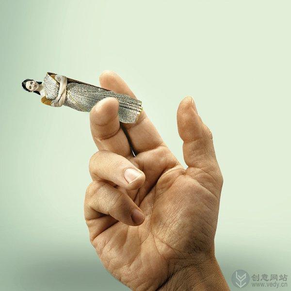 关于戒烟的创意广告设计