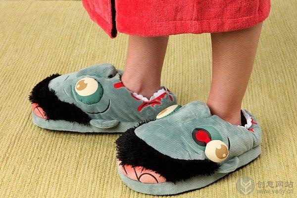 僵尸影迷肯定喜欢的创意拖鞋设计