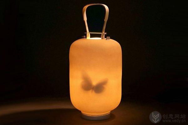 蝴蝶灯笼样式的灯泡创意设计