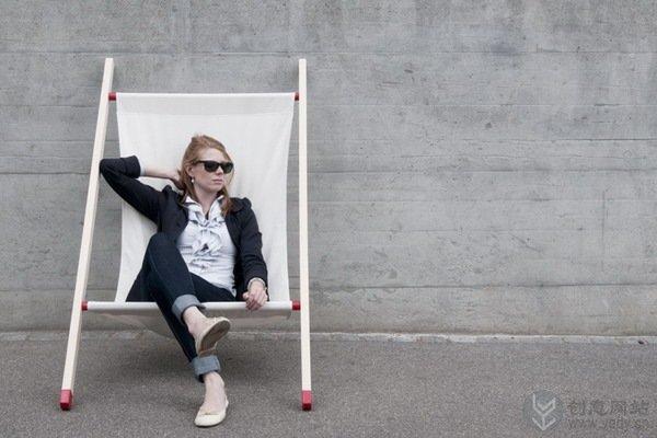 担架样式的创意躺椅设计