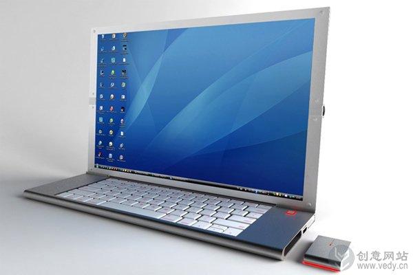 可二次折叠的便携式笔记本电脑OLED