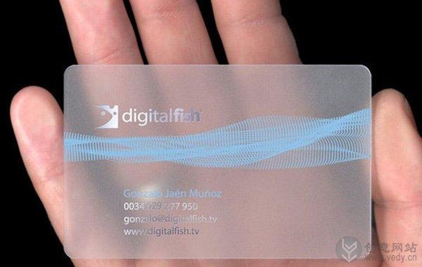 设计新颖的透明名片创意设计