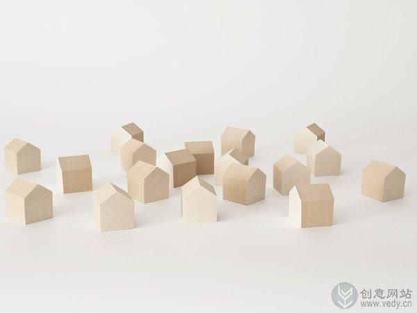小房子样子的环保创意便利贴
