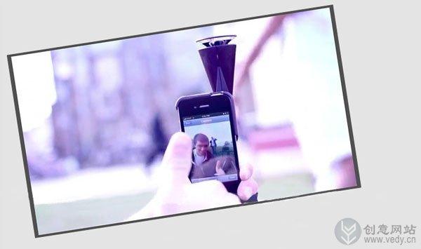 iPhone用的360度全景摄镜头