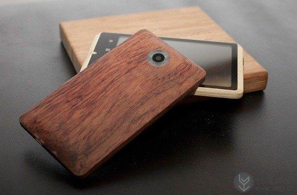 竹子材料的智能手机