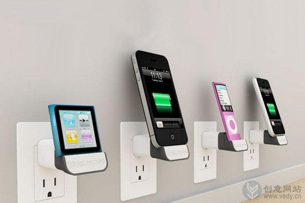 无线缆的苹果创意充电器底座托盘