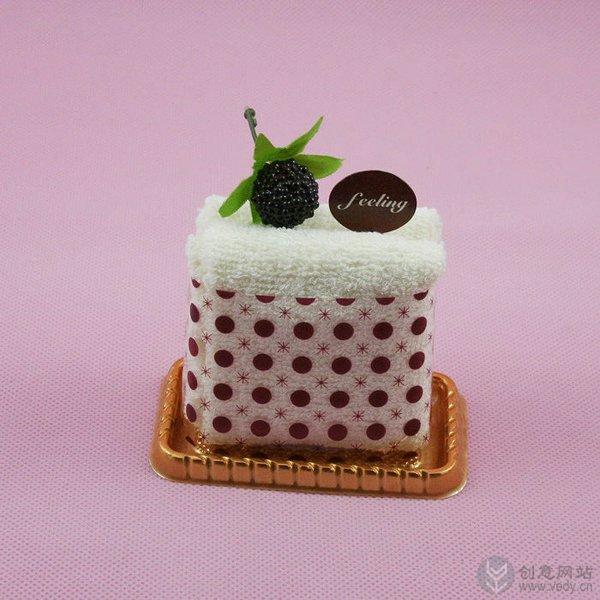 可口的蛋糕样式创意毛巾设计
