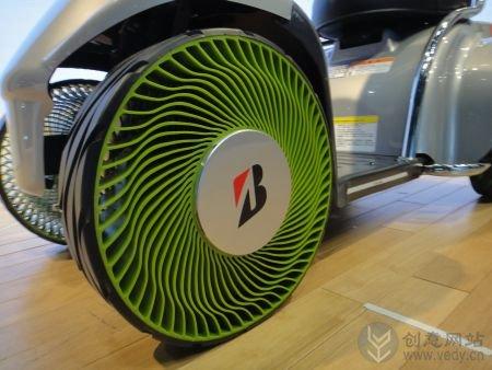不用充气的创意汽车轮胎设计
