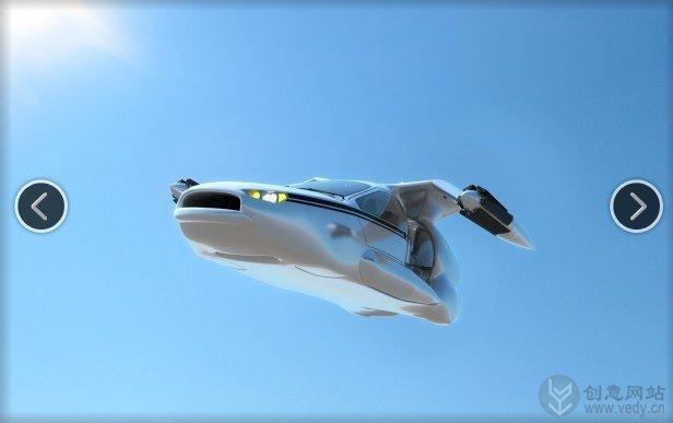 会飞行的混动创意概念车设计效果图