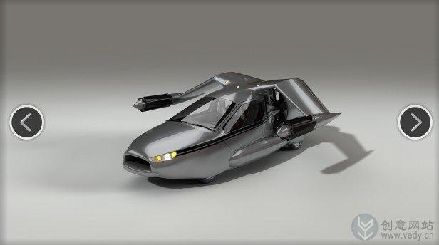 会飞行的混动创意概念车设计图纸